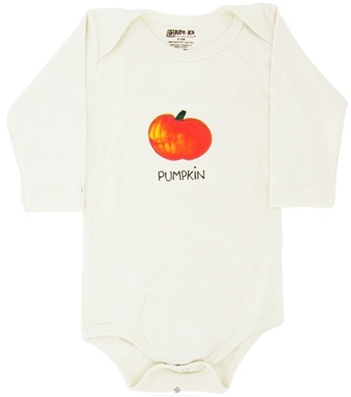 DROPPED: Kee-Ka - 100% Organic Cotton Long Sleeve BodySuit With Wearable Greetings Gift Box Pumpkin 6-12 Months - CLEARANCE PRICED