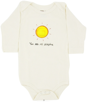DROPPED: Kee-Ka - 100% Organic Cotton Long Sleeve BodySuit With Wearable Greetings Gift Box You Are My Sunshine 6-12 Months - CLEARANCE PRICED