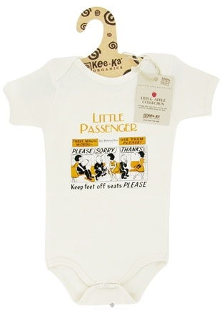 Zoom View - Little Apple Collection 100% Organic Short Sleeve Bodysuit