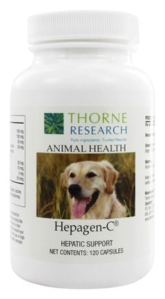DROPPED: Thorne Research - Animal Health Hepagen-C - 120 Capsules