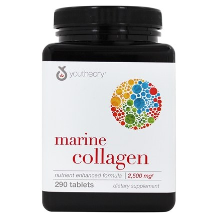 Youtheory - Marine Collagen Enhanced Formula Type 1 & 3 - 290 Tablets
