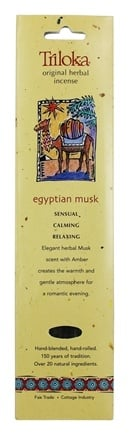 Triloka - Original Herbal Incense Egyptian Musk - 10 Stick(s)