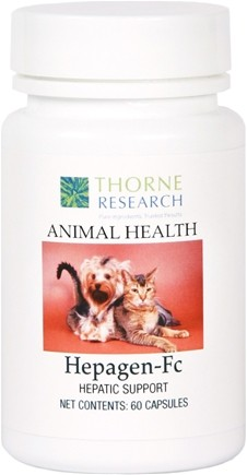 DROPPED: Thorne Research - Animal Health Hepagen-Fc - 60 Capsules CLEARANCE PRICED
