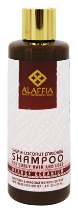 Alaffia - Shea & Coconut Enriching Shampoo Orange Geranium Scent - 8 oz.