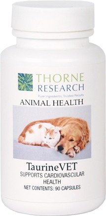 DROPPED: Thorne Research - Animal Health TaurineVET - 90 Capsules CLEARANCE PRICED