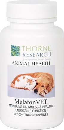 DROPPED: Thorne Research - Animal Health MelatonVET - 60 Capsules CLEARANCE PRICED
