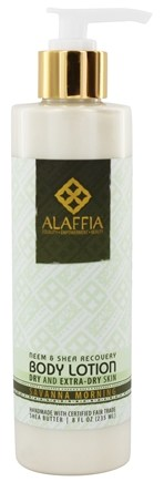 Alaffia - Body Lotion Neem & Shea Butter Skin Recovery Savanna Morning - 8 oz.