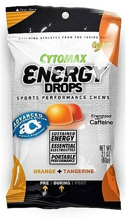 DROPPED: Cytosport - Cytomax Energy Drops Sports Performance Chews Orange and Tangerine - 2.1 oz.