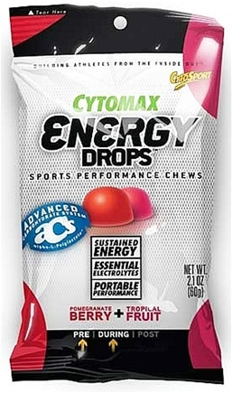 DROPPED: Cytosport - Cytomax Energy Drops Sports Performance Chews Pomegranate Berry and Tropical Fruit - 2.1 oz.