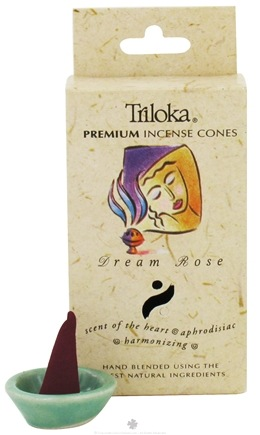 DROPPED: Triloka - Premium Incense Cones Dream Rose - 14 Cone(s) CLEARANCE PRICED