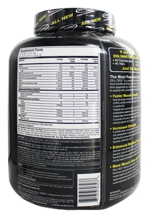 Buy muscletech products cell tech performance series hardgainer creatine formula grape 6 lbs - Cell tech hardgainer creatine formula ...