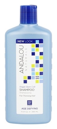 Andalou Naturals - Shampoo Age Defying Thinning Hair Treatment with Fruit Argan Stem Cells - 11.5 oz.
