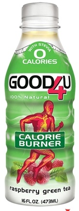 DROPPED: GOOD4U Sports Nutrition - Calorie Burner Formula 100% Natural Raspberry Green Tea - 16 oz. CLEARANCE PRICED