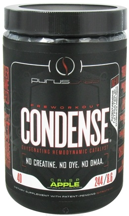 DROPPED: Purus Labs - Condense Pre Workout Oxygenating Hemodynamic Catalyst 8.6 oz. Crisp Apple - 244 Grams CLEARANCE PRICED