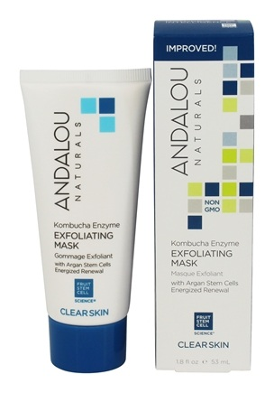 Andalou Naturals - Clear Skin Kombucha Enzyme Exfoliating Mask with Argan Stem Cells - 1.8 oz.