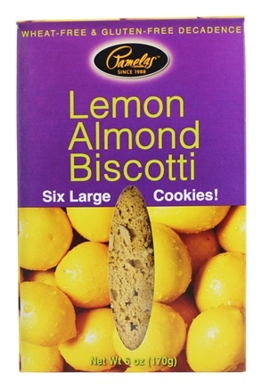 DROPPED: Pamela's Products - Biscotti Gluten Free Lemon Almond - 6 Pack