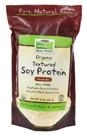 NOW Foods - Certified Organic Textured Soy Protein Granules - 8 oz.
