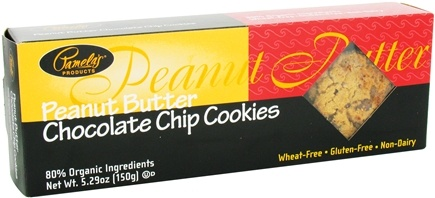 DROPPED: Pamela's Products - Cookies Gluten Free Peanut Butter Chocolate Chip - 5.29 oz.