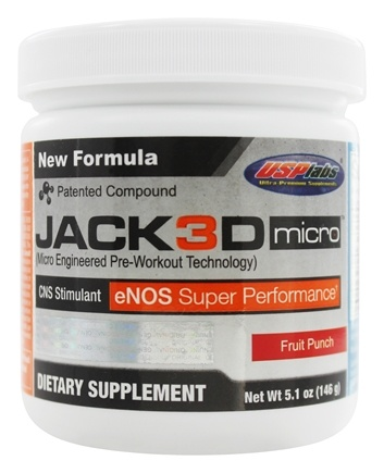 DROPPED: USP Labs - UNPUBLISHED Jack3d Micro Fruit Punch (5.1 oz.) - 146 Grams