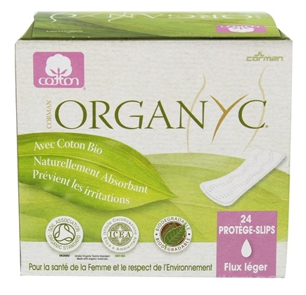 DROPPED: Organyc - Organic Cotton Menstrual Panty-Liners Light Flow - 24 Liner(s)