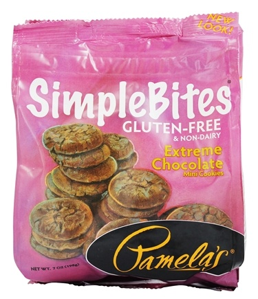 DROPPED: Pamela's Products - Simple Bites Gluten Free Mini Cookies Extreme Chocolate - 7 oz.