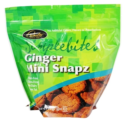 Pamela's Products - Simple Bites Gluten-Free Mini Cookies Ginger Snapz - 7 oz.