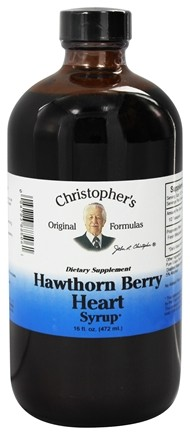 Dr. Christopher's Original Formulas - Hawthorn Berry Heart Syrup - 16 oz.
