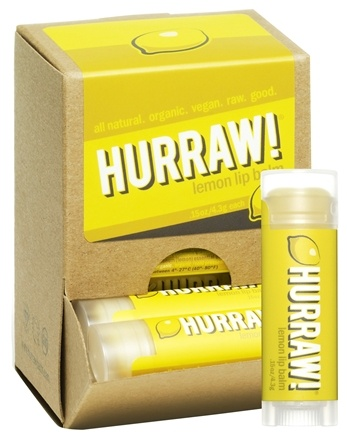 DROPPED: Hurraw Balm LLC - Lip Balm Lemon - 0.15 oz. CLEARANCE PRICED