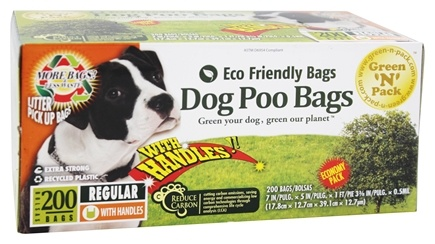 DROPPED: Green 'N' Pack Eco Friendly Bags - Dog Poo Bags 90 Day Pack Value Pack - 200 Bags