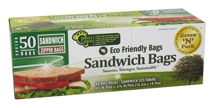DROPPED: Green 'N' Pack Eco Friendly Bags - Sandwich Zipper Bags - 50 Bags