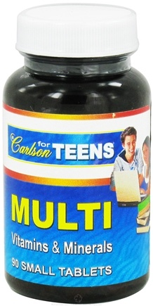 DROPPED: Carlson Labs - Multi Vitamins and Minerals for Teens - 90 Tablets
