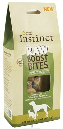 DROPPED: Nature's Variety - Instinct Raw Boost Bites Freeze Dried Treats Venison Formula - 4 oz.