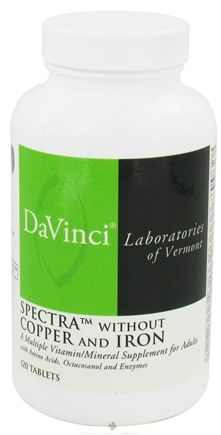 DROPPED: DaVinci Laboratories - Spectra without Copper and Iron - 120 Tablets CLEARANCE PRICED