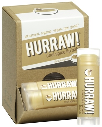 DROPPED: Hurraw Balm LLC - Lip Balm Chai Spice - 0.15 oz. CLEARANCE PRICED