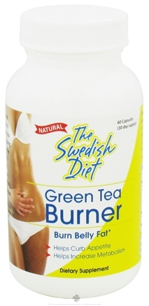 DROPPED: The Swedish Diet - Green Tea Burner - 60 Capsules CLEARANCE PRICED