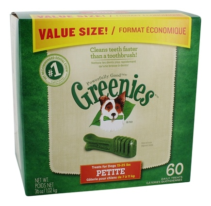 DROPPED: Greenies - Dental Chews For Dogs Petite (For Dogs 15-25 lbs.) - 60 Chew(s) CLEARANCE PRICED