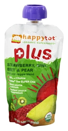 DROPPED: HappyFamily - Organic HappyTot Plus Strawberry, Kiwi, Beet & Pear - 4.22 oz.