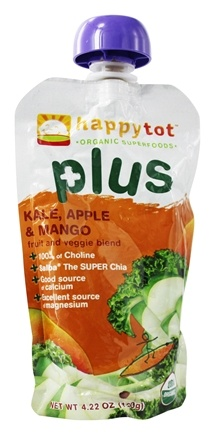 DROPPED: HappyFamily - Organic HappyTot Plus Kale, Apple, & Mango - 4.22 oz.