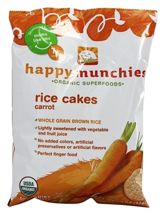 DROPPED: HappyFamily - Happy Munchies Organic Rice Cakes Carrot - 1.4 oz.