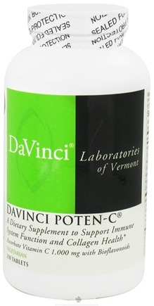 DROPPED: DaVinci Laboratories - DaVinci Poten-C - 250 Vegetarian Tablets CLEARANCE PRICED