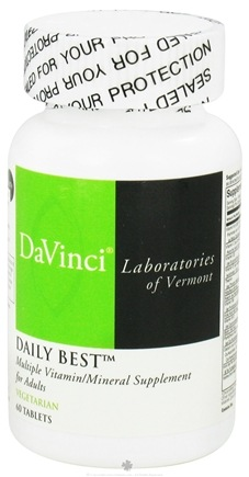 DROPPED: DaVinci Laboratories - Daily Best - 60 Vegetarian Tablets CLEARANCE PRICED