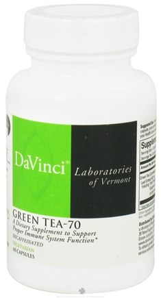 DROPPED: DaVinci Laboratories - Green Tea-70 - 60 Vegetarian Capsules CLEARANCE PRICED