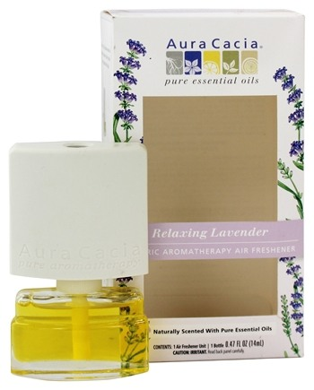 Aura Cacia - Electric Aromatherapy Air Freshener Relaxing Lavender - 0.52 oz.