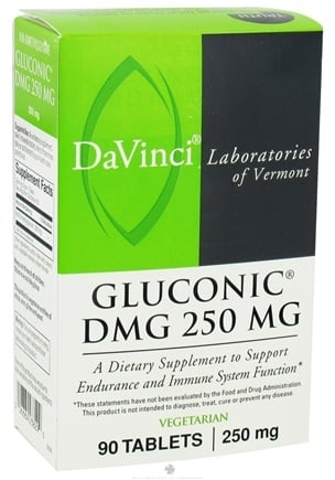 DROPPED: DaVinci Laboratories - Gluconic DMG 250 mg. - 90 Vegetarian Tablets CLEARANCE PRICED