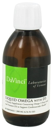 DROPPED: DaVinci Laboratories - Liquid Omega with D3 - 200 ml. CLEARANCE PRICED