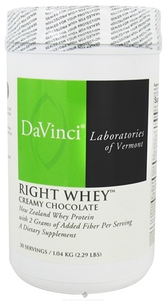 DROPPED: DaVinci Laboratories - Right Whey New Zealand Whey Protein Creamy Chocolate Flavor - 2.29 lbs. CLEARANCE PRICED