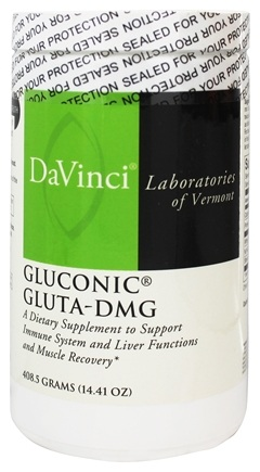 DROPPED: DaVinci Laboratories - Gluconic Gluta-DMG Powder - 408.5 Grams CLEARANCE PRICED
