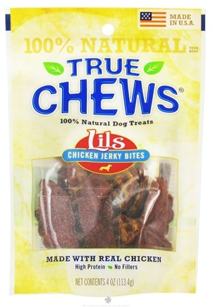DROPPED: True Chews - Lils Chicken Jerky Bites Dog Treats - 4 oz. CLEARANCE PRICED