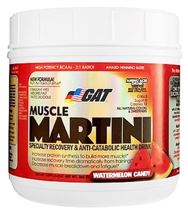 DROPPED: GAT - Muscle Martini Amino Acid Drink Watermelon Candy - 30 Servings - 365 Grams