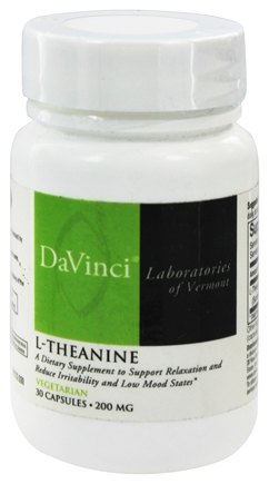 DROPPED: DaVinci Laboratories - L-Theanine 200 mg. - 30 Vegetarian Capsules